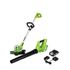 GreenWorks STBA24B210 24V Cordless String Trimmer and Blower Combo Pack