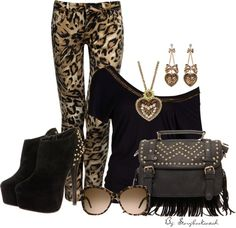 """Printed Jeans"" by judi-kennedy-villa on Polyvore"