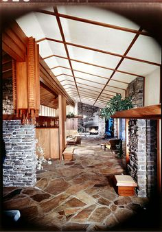 Walton Residence - Bentonville Arkansas - Built: 1958  Architect: E. Fay Jones   House won 1961 AIA Honor Award   Photo: Maynard L. Parker C...