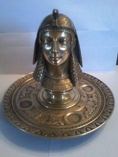 Online veilinghuis Catawiki: Bronzen Inktpot in de vorm van een Farao - ca. 1900