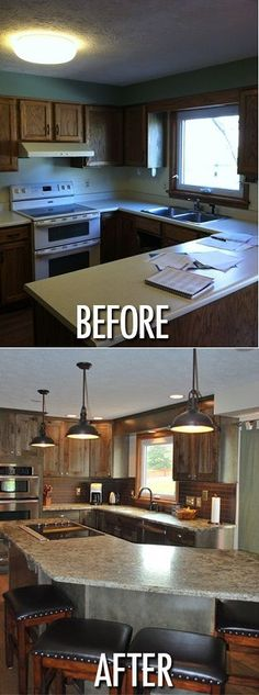 Before & After Kitchen #kitchen remodeling  #home remodeling #kitchens