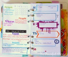 My Weekly Plan 8-11-2014 - The Peaceful Mom  #planner  #organize