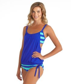 NEXT Lined Up Double Up Tankini Top // Bathing suit top!!