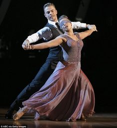 Dazzling: Earlier in the night Bindi and Derek had also received perfect marks for their Viennese waltz to Roses and Violets