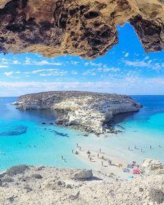 Spiaggia dei Conigli, Lampedusa, Sicilia, Italia.