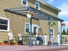 Enjoy your outdoors year-round with the Palram Tuscany Patio Cover, a stylishly crafted and sturdy addition to your living space. Enjoy gatherings of family and friends without fearing unstable weather spoiling your plans.
