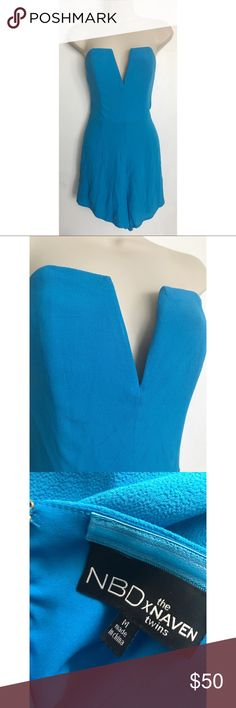 Deep V Neck Romper Blue Size: Medium. Condition: No defects. Please feel free to leave any questions in the comments! :-) NBD Other