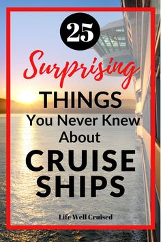 Here are 25 interesting things you didn't know about cruise ships. Surprising cruise ship facts make this an awesome read for anyone interested in cruising! Cruise Packing Tips, Cruise Travel, Cruise Vacation, Disney Cruise, Best Cruise, Cruise Port, Cruise Ship Reviews, Cruise Prices, Cruise Quotes