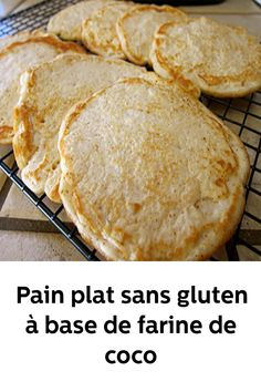 Gluten-free flat bread made from coconut flour – Health Nutrition – Keto Diet: What is a Ketogenic Diet? Gluten Free Cakes, Vegan Gluten Free, Gluten Free Recipes, Diet Recipes, Vegan Recipes, Gluten Free Restaurants, Foods With Gluten, How To Make Bread, Coconut Flour