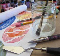 Printing with Gelli Arts®: Stamping with Round Gelli® Plates on a Silk Scarf! Gelli Plate Printing, Stamp Printing, Printing On Fabric, Stencil Painting, Fabric Painting, Acrylic Picture Frames, Gelli Arts, Diy Scarf, Acrylic Box
