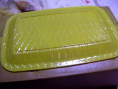 Super neat idea! Spray paint the bottom of clear dollar store platters to go with decor and style and leave the top alone and will be food safe :D