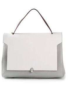 Shop Anya Hindmarch 'Bathurst' two-tone tote in Larizia from the world's best independent boutiques at farfetch.com. Over 1000 designers from 60 boutiques in one website.