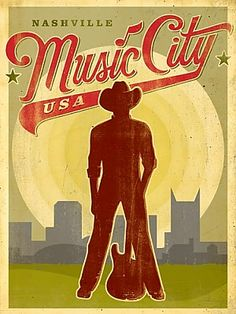 Nashville Poster | Vintage Travel Posters and Vintage Prints