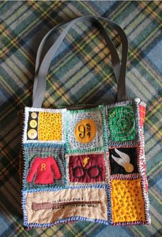 Harry Potter quilted tote bag- Make quilt instead