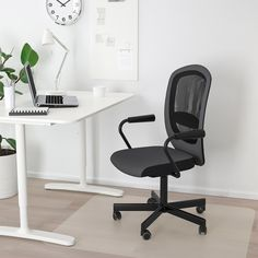FLINTAN / NOMINELL Office chair with armrests, black. Read about the terms in the Limited Warranty brochure. 8 Drawer Dresser, Seat Foam, Comfortable Office Chair, Ikea Family, Home Office Chairs, Desk Chairs, Swing Chairs, Office Table, Gray