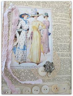 IMG_8894 Altered Books, Altered Art, Book Journal, Art Journals, Vintage Paper Crafts, Mixed Media Cards, Junk Art, Favorite Pastime, Art Journal Inspiration