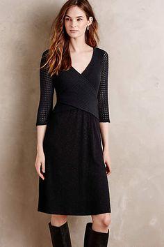 The Classic Little Black Dress  Fara Surplice Dress - anthropologie.com