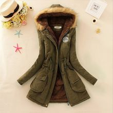 Nuevo 2015 engrosamiento largo abrigo militar con capucha Outerwears chaqueta de invierno mujeres abrigos de piel de mujer ropa Outwear Parkas Coat(China (Mainland))
