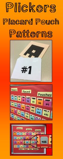 What do you Plan to do with all those Plickers Placards when you are not using them? I keep my individual Plickers Placard each in a Pouch. The Pouches I use where the Plickers Placards are placed are made of paper. The Paper Pouches have been made from a Particular Pattern that can be found in this PDF Product. Once the Patterns are Printed they can be Pleated appropriately and Positioned in a Place in the classroom to Promote Plickers Perfection.