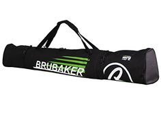 BRUBAKER Padded Ski Bag Skibag CARVER CHAMPION 190 cm 74 34 Black Green     Click on the image for additional details. (This is an affiliate link)   SkiBags 8c5c79b6a8235