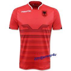 2016 UEFA Euro Albania Home Soccer Jersey