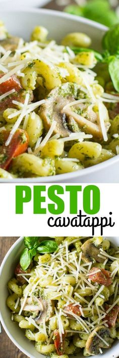 It only takes 6 ingredients and 15 minutes to create copycat Pesto Cavatappi at home. It's faster, cheaper, and tastier than the Noodles & Company version!