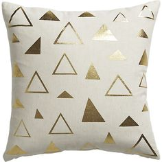A fun modern throw pillow with gold accents from CB2!