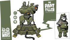 Cartoon Graphic Vector Art. Crazy Mech Tech, Iain Thody on ArtStation at https://www.artstation.com/artwork/qJ1rL