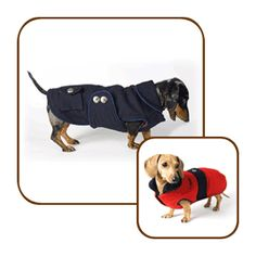 Reversible Dachshund Peacoat: Your small sailor will be ready to set sail in this navy blue wool peacoat, sized perfectly for your dachshund! @Noodle and Friends #dachshund