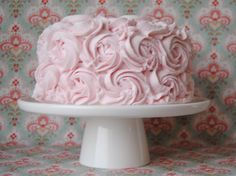 Vanilla cake with blush pink rose buttercream from the Handmade Cake Company
