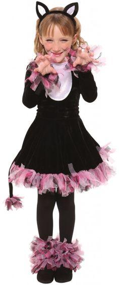 Purple Black cat halloween costume for kids