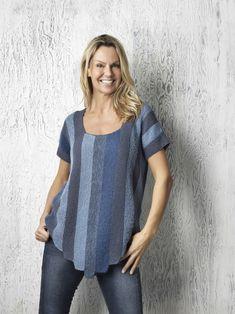 Spændende bluse strikke i 66 garn kvaliteter