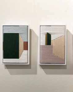 : the architectural woven works of Jo Elbourne ▪️▫️ Art And Illustration, Modern Art, Contemporary Art, Minimal Art, Embroidery Art, Textile Art, Collage Art, Art Inspo, Sculpture Art