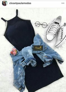 Outfits como chamarra de mezclilla…👗👑 - Oven Tutorial and Ideas Cute Casual Outfits, Swag Outfits, Mode Outfits, Cute Summer Outfits, Pretty Outfits, Stylish Outfits, Casual Summer, Shop This Look Outfits, Summer Dresses