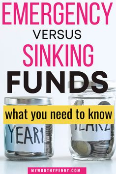 Here are savings fund ideas that you should add to your savings funds. If you have a monthly budget, chances are you already know about the emergency funds, but what about the sinking funds? Here are the things you should know about emergency funds and sinking funds so that you can improve your personal finance and increase your savings fast. #emergencyfund #sinkingfund #savingmoneychallenge Money Worksheets, Budgeting Worksheets, Budgeting Finances, Budgeting Tips, Apps For Couples, Money Saving Challenge, Saving Money, Monthly Budget Template, Setting Up A Budget