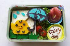Kiiroitori Rainy Day pancake bento | Bento Days