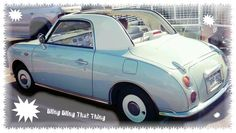 Nissan Figaro. Encountered in a shopping centre car park. Thought it was cute.