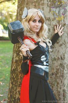 Female Thor Cosplay Costume..I wanna be Thor for Halloween!