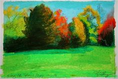 Taconic Parkway Landscape- original pastel landscape by Gretchen Kelly, original painting by artist Gretchen Kelly | DailyPainters.com