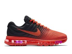 4497ae1382 Nike Air Max 2017 Coussin Dair Chaussure de Running Pas Cher Pour Homme  Rouge noir 849559