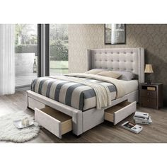 Thousand Upholstered Storage Panel Bed