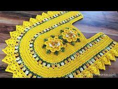 Eloiza marques sousa garcia shared a video Crochet Home, Crochet Motif, Crochet Designs, Crochet Crafts, Crochet Doilies, Easy Crochet, Crochet Flowers, Crochet Baby, Free Crochet