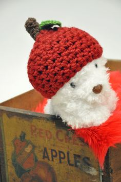 Cute Red Apple Hat by JLloPhotographyProps on Etsy, $24.99