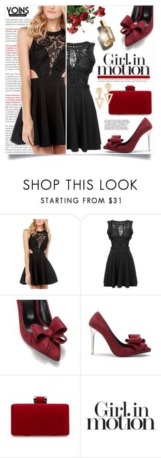 """""""Girl In Motion"""" by gorgeautiful ❤ liked on Polyvore featuring Victoria's Secret, D&G, Summer, cocktaildress, lacedress and yoins"""