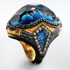 Carved Gemstone Ring by Sevan Bikakci