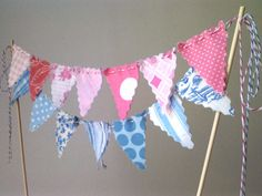 Cake Bunting Topper Pink and Blue Baby Shower Gender by BooBahBlue, $20.00 I LOVE BOOBAHBLUE!!!!!!!!!!