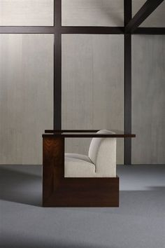 square chair - SALONE DEL MOBILE: ARMANI CASA    Harmony and essential lines characterise Giorgio Armani's Home collection shown at Milan's furniture trade show