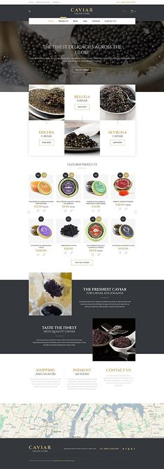 Premium Caviar Online Store #Shopify #template. #themes #business #responsive #webshop #Shopifythemes