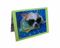 Chihuahua Greeting Card Fun Dog Card by Lillyzcardz on Etsy, $4.00