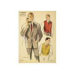 Pre-Owned Men's Plaid Suit 1958 ($95) ❤ liked on Polyvore featuring home, home decor, wall art, tartan plaid plates, plaid plates, signed lithograph, plaid home decor and tartan plates
